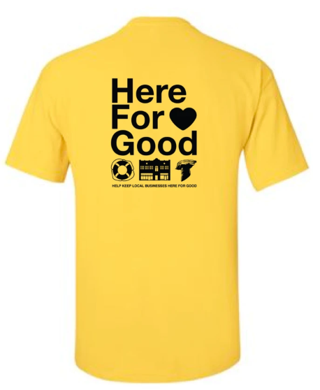 here for good tshirt to support NWDSS